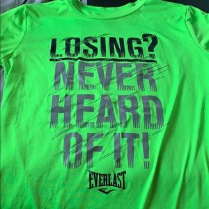 Workout shirt with quote